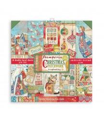 Bloczek świątecznych papierów do scrapbookingu Stamperia, Christmas Patchwork 20x20