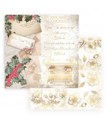 Bloczek papierów do scrapbookingu 20x20 cm, Romantic Christmas / Stamperia SBBS44