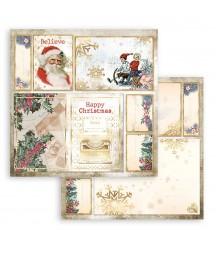 Papier do scrapbookingu Stamperia 30x30, Romantic Christmas, świąteczne kartki SBB829