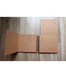 Baza albumowa do scrapbookingu - grudniownik składany kraft 175x155 Eco Scrapbooking