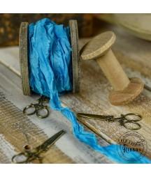 Wstążka Vintage Old Fashion grecki niebieski