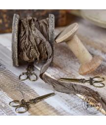 Wstążka Vintage Old Fashion jasnobrązowa