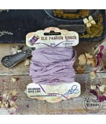 Wstążka lniana Old Fashion, brudna lawenda 300 cm
