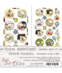 Zestaw etykiet do kolekcji Szkolne przygody / Craft O'Clock
