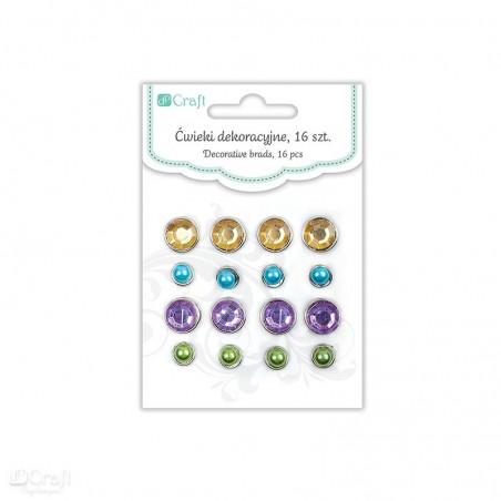 Ćwieki dekoracyjne 16 szt., Lilac Garden [DPCD-007]
