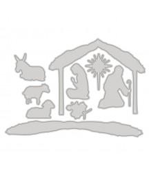 Wykrojniki do scrapbookingu DP Craft, Szopka bożonarodzeniowa 9 szt. JCMA-168