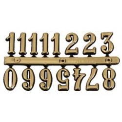 Cyfry arabskie - złote duże