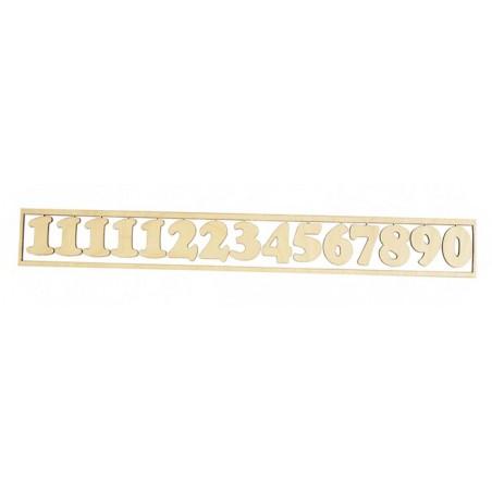 Cyfry do zegara arabskie drewniane w ramce ZL261
