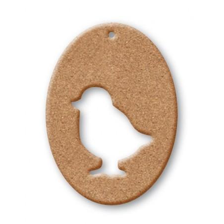 Ozdoba wielkanocna z MDF, Owal z kurczakiem