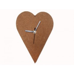 Zegar MDF serce 20 cm [MAK]