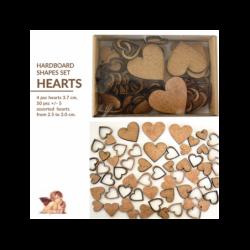 Dekory z HDF Daily Art - Serca - pudełko