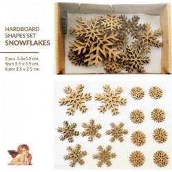 Dekory z HDF Daily Art w pudełku, Śnieżynki