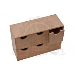 Regał z MDF z szufladkami - baza do decoupage