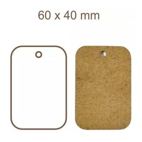 Zestaw tagów HDF nr 17, 60x40 mm, 5 szt. [Daily Art]