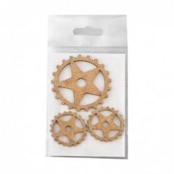 Dekory z HDF - Trybiki - Gears A - mix rozmiarów - produkty do decoupage i mixed media