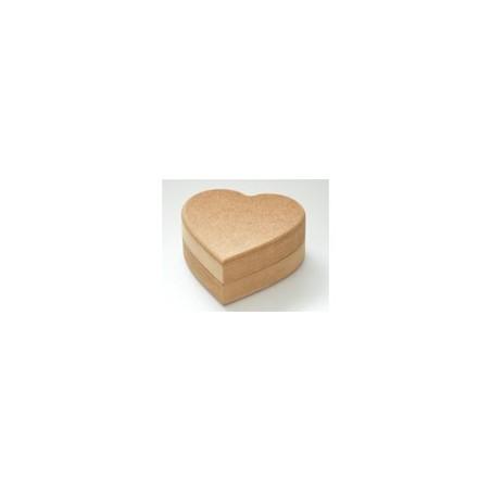 Pudełko z MDF, Serce pełne 12.5 cm