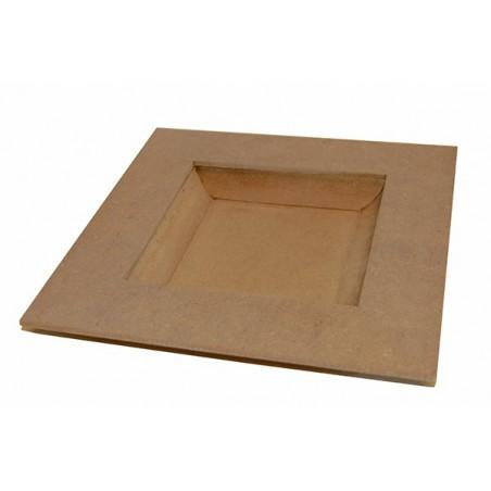 Kwadratowy talerz z MDF, baza do decoupage [KF48]