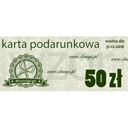 Karta podarunkowa - voucher bon na zakupy 50 zł - idealny prezent dla fanki decoupage lub scrapbookingu