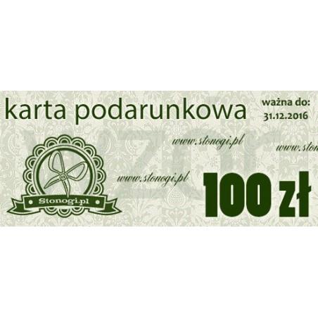 Karta podarunkowa - voucher bon na zakupy 100 zł - prezent dla twórczej osoby