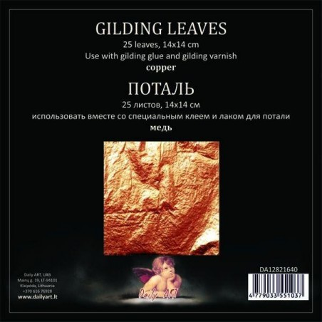Folia do złoceń w arkuszach - szlagmetal - miedziana