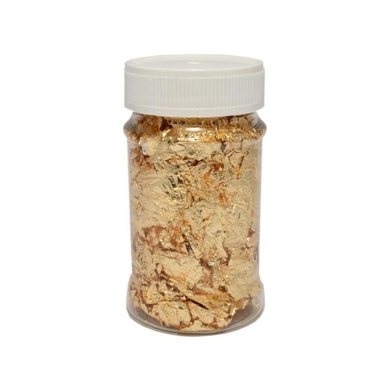 Folia do złoceń w płatkach 100 ml - złota