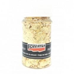 Folia do złoceń w płatkach Pentart 100 ml, złota - odcień 2