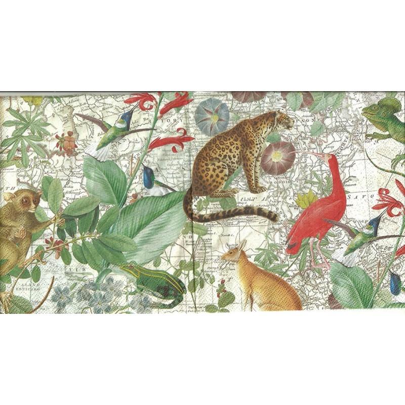 Serwetka do decoupage - Egzotyczne zwierzęta - lampart