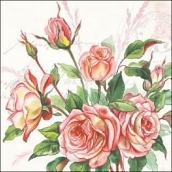 Serwetka do decoupage z różami