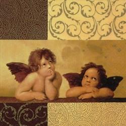 Serwetka do decouapge - Aniołki Rafaella mini