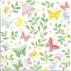 Serwetka - Motyle i bluszcze