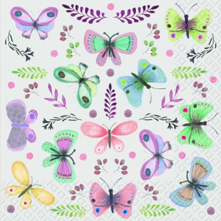 Serwetka - Motyle 24