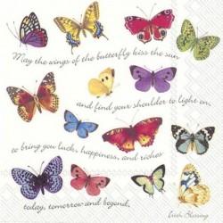Serwetka - Motyle 29
