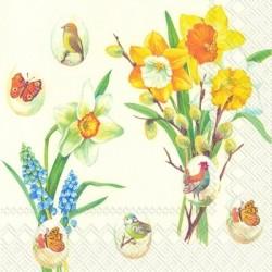 Serwetka - Wielkanocny ogród