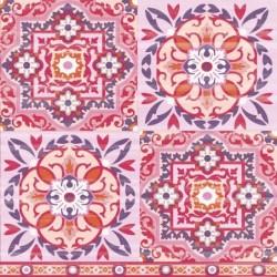 Serwetka - Różowe płytki