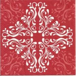Serwetka - Czerwony ornament