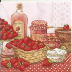 Serwetka - Smak truskawek,...