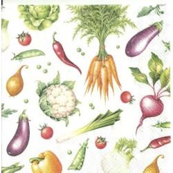 Serwetka - Warzywa, mini