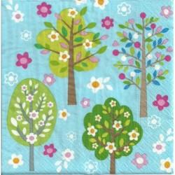 Serwetka - Kwitnące drzewka