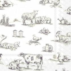Serwetka - Brązowe zwierzęta
