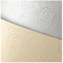 Papier wizytówkowy A4 tłoczony - Floral diamentowa biel