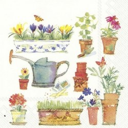 Serwetka do decoupage - Wiosna w ogrodzie