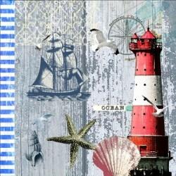 Serwetka do decoupage - Latarnia morska