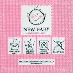 Serwetka do decoupage - New baby girl