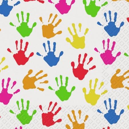 Serwetka do decoupage - Kolorowe ręce