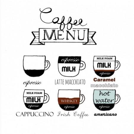 Serwetka do decoupage - Coffee menu
