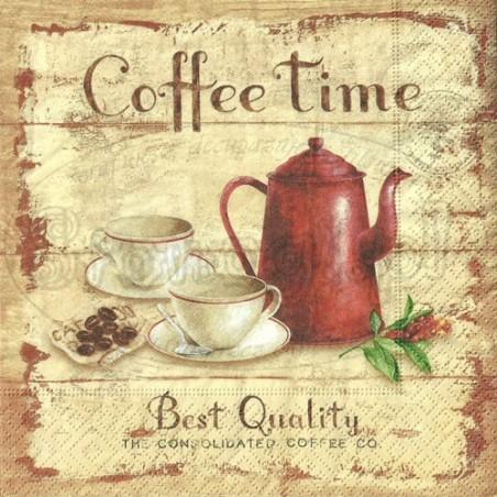 Serwetka do decoupage - Coffee time 2