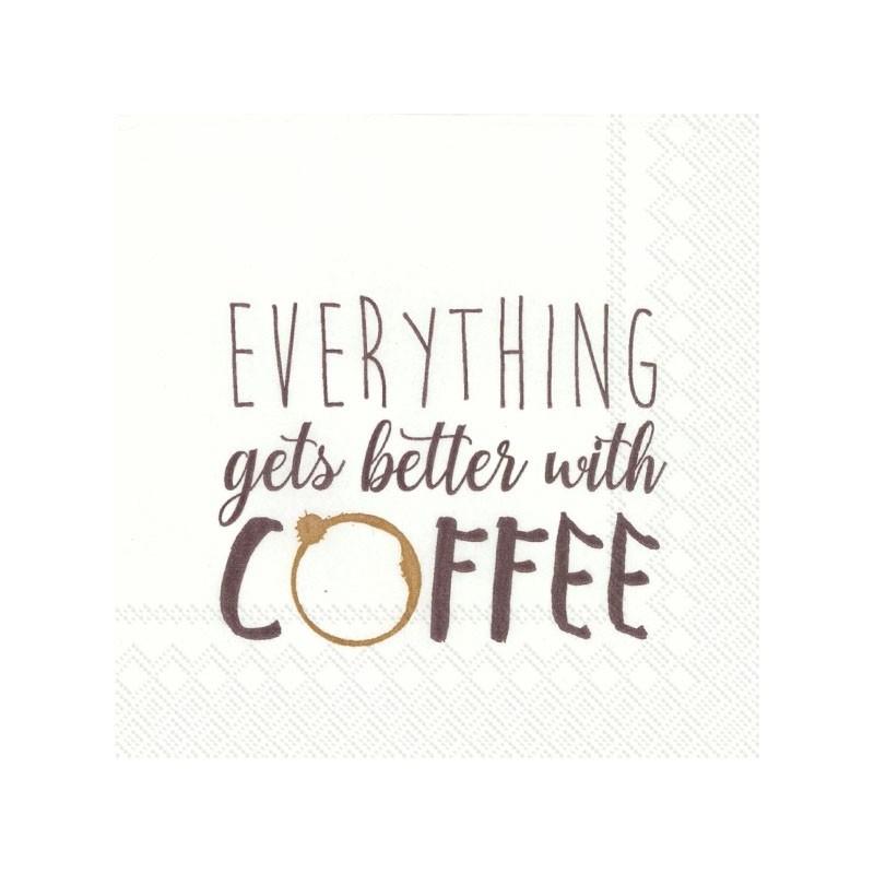 Serwetka do decoupage - Coffee time 3, mini