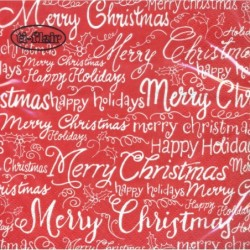 Serwetka do decoupage - Merry Christmas napisy