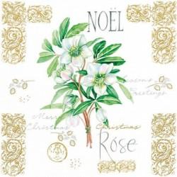 Serwetka do decoupage - Noel rose