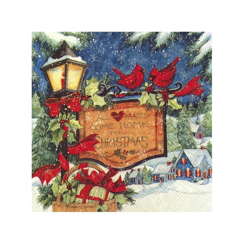 Serwetka do decoupage - Come home for Christmas
